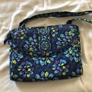 Vera Bradley indigo pop small laptop/tablet case